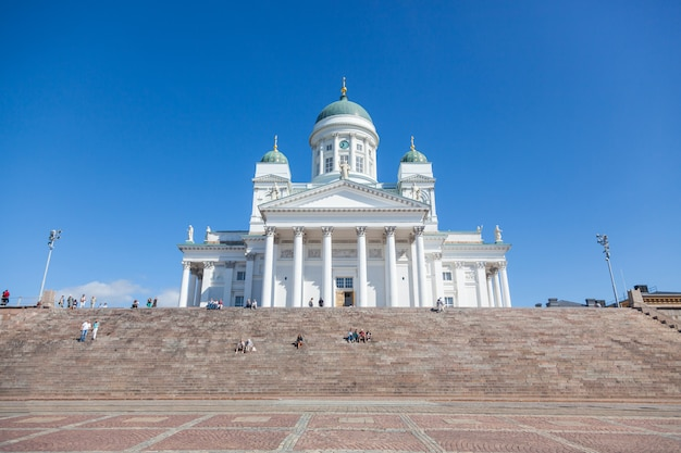 Lutheran cathedral in helsinki, finland Premium Photo
