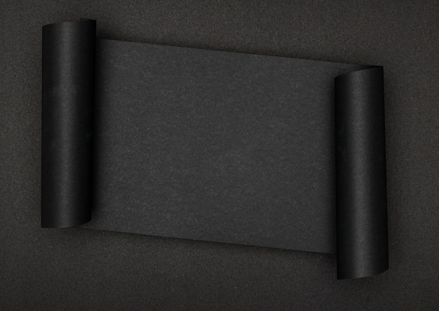 黒い背景に豪華な黒い紙 Premium写真