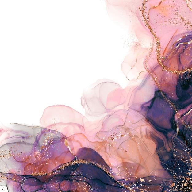 Роскошные спиртовые чернила абстрактное жидкое искусство Premium Фотографии
