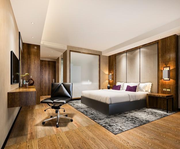 ワーキングテーブル付きのリゾートの豪華なベッドルームスイート Premium写真