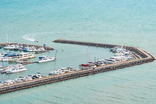 Luxury boat yachts on the dock Free Photo