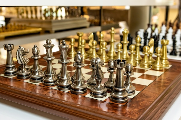家のための豪華なチェス盤の装飾 Premium写真
