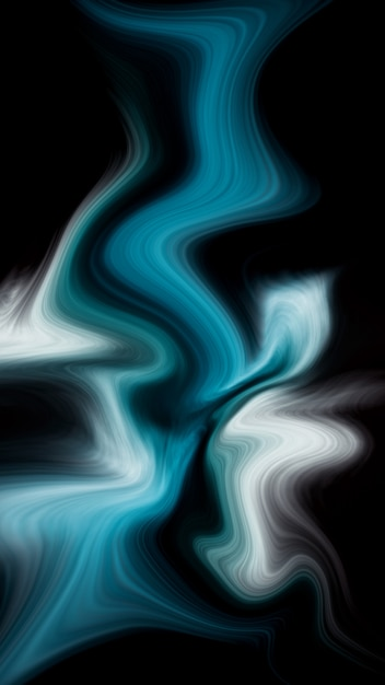Luxury deep blue ocean liquid colors background Premium Photo