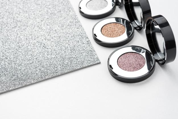 Luxury eye shadows with glitter Free Photo