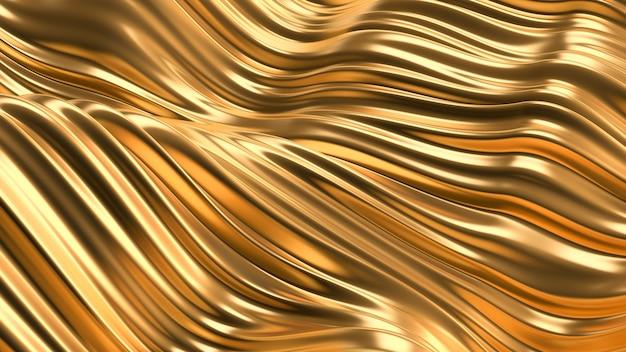 豪華な金色の背景。 3dレンダリング。 Premium写真
