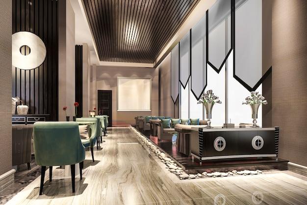 고급 호텔 리셉션 홀 및 로비 리셉션 프리미엄 사진