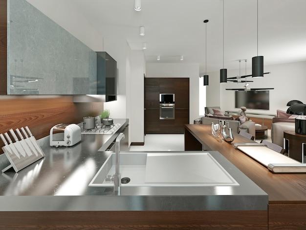 クラシックなスタイルの高級キッチン Premium写真