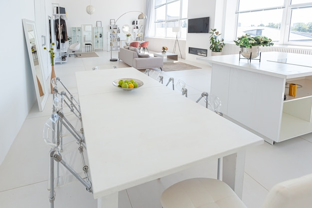 Luxury Modern Interior Design Of White Studio Apartment In Minimalist Style Premium Photo,Blouse Designs 2019 Latest Images Download