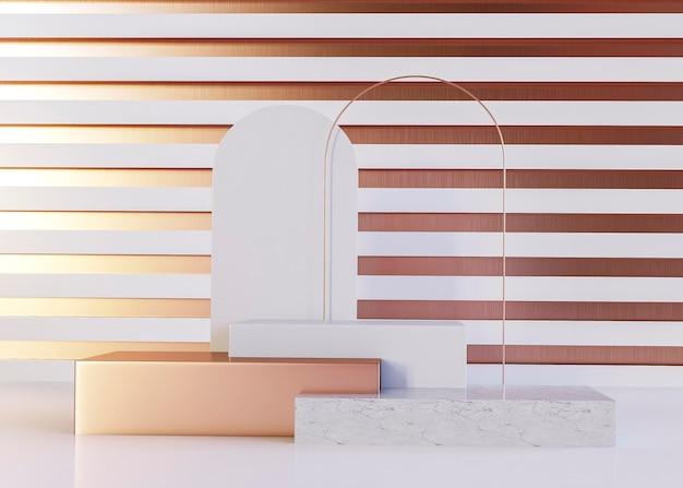 豪華なピンクゴールドの幾何学的形状の背景 無料写真
