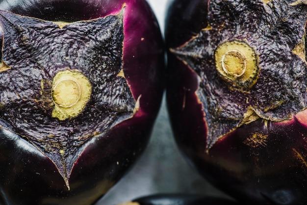 Macro shot of two aubergines Free Photo