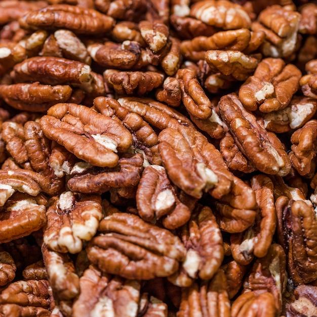 Macro shot of walnuts in store Free Photo