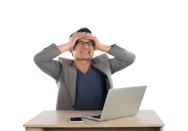 Mad entrepreneur indoors finance nervous Free Photo