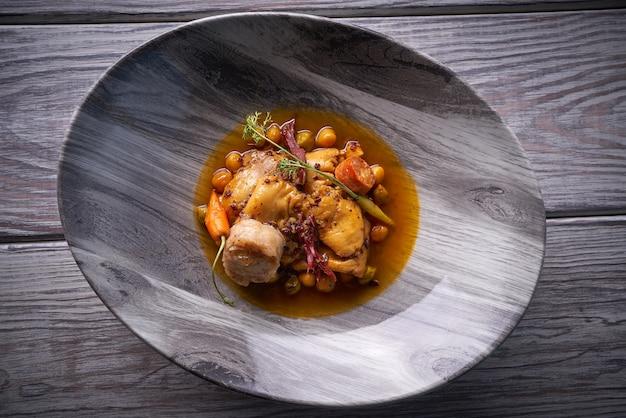 Madrid style modern callos tripe stew Premium Photo