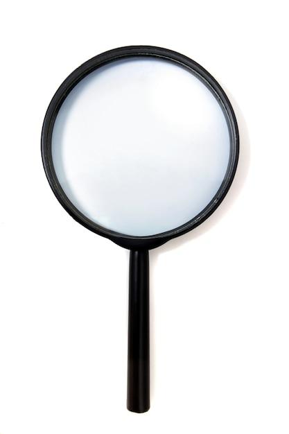 Magnifying glass isolated Premium Photo
