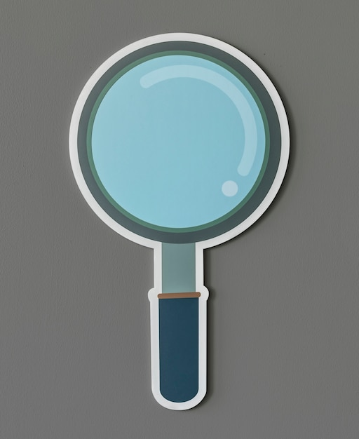 Magnifying glass search icon isolated Free Photo