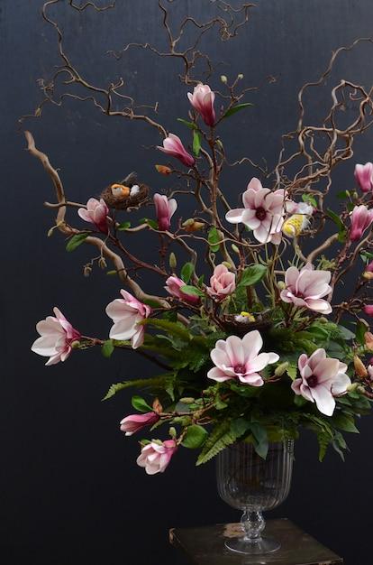 Magnolia Flower Arrangement Photo Premium Download