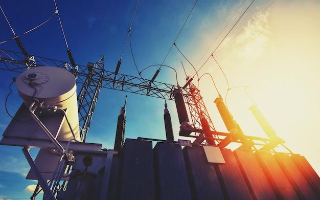 Main power plant energy ideas and energy saving Premium Photo