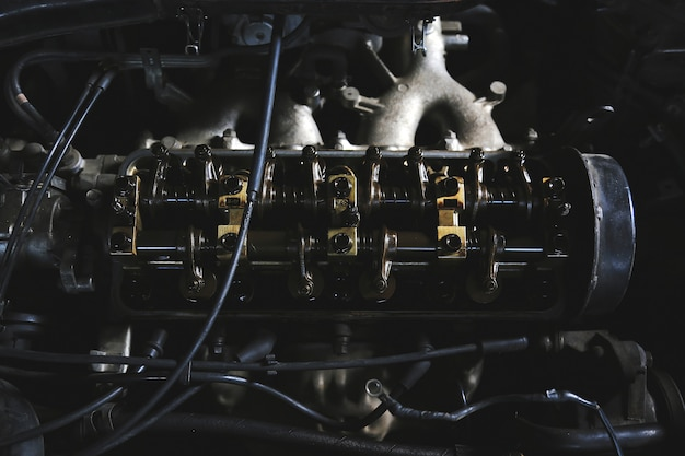 Maintenance car engine in the garage Premium Photo
