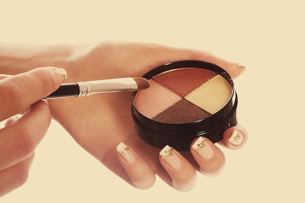 Make up collection close up Premium Photo
