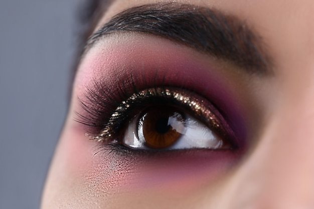 Make-up eye of young attractive woman Premium Photo