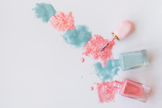 Make up of nail polish Premium Photo