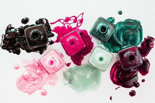 Make up of nail polish Free Photo