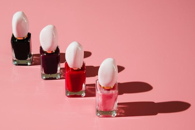 Makeup of nail polish Free Photo