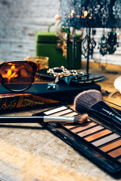 Makeup products for women Premium Photo