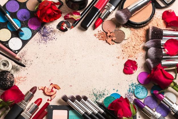 Makeup products Premium Photo