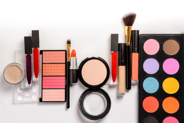 Набор для макияжа, кисти и косметика Premium Фотографии
