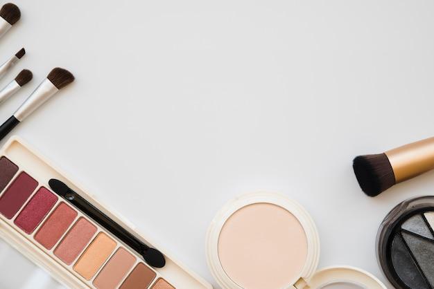 Makeup tools and eyeshadow Free Photo