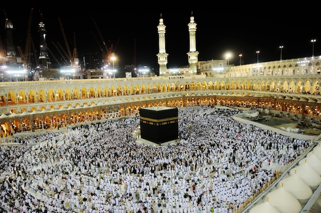 Makkah kaaba hajj muslims Premium Photo