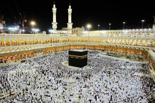 Makkah kaaba hajj muslims Premium Photo