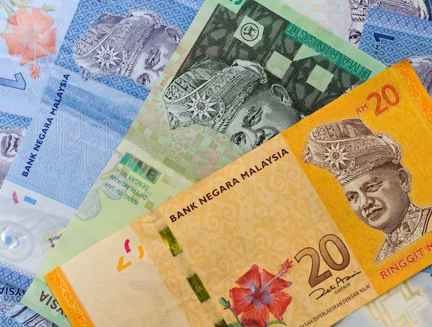 Malaysia bank notes Premium Photo