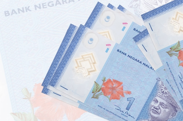 Malaysian ringgit bills on a white background Premium Photo