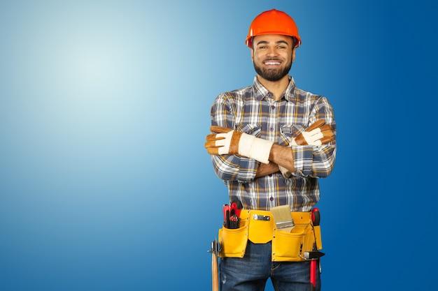 Male construction worker Premium Photo