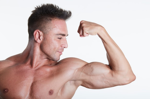 Male fit model Premium Photo