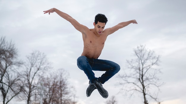 Male performer of ballet Free Photo