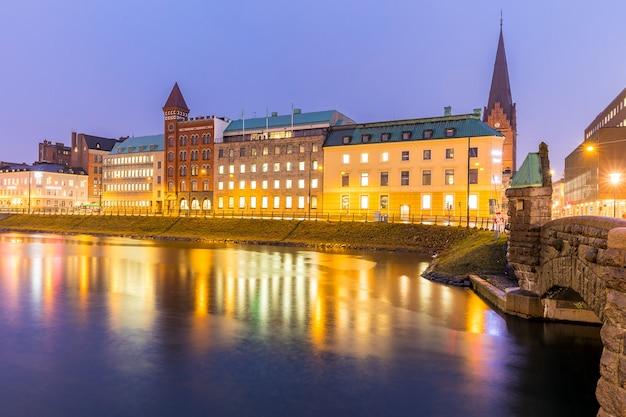 Мальмё городской пейзаж швеция Premium Фотографии