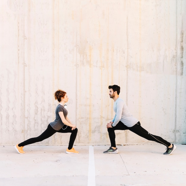Man and woman lunging together 23 2147755532