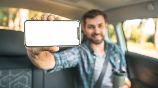 Man on a car trip Free Photo