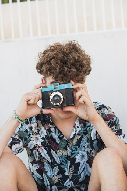 Image result for man clicking on a camera free to use