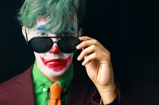 Man in clown makeup Premium Photo