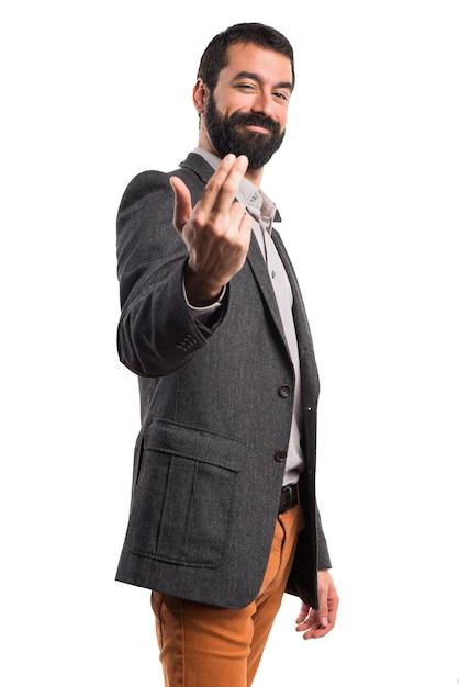 Man coming gesture Free Photo