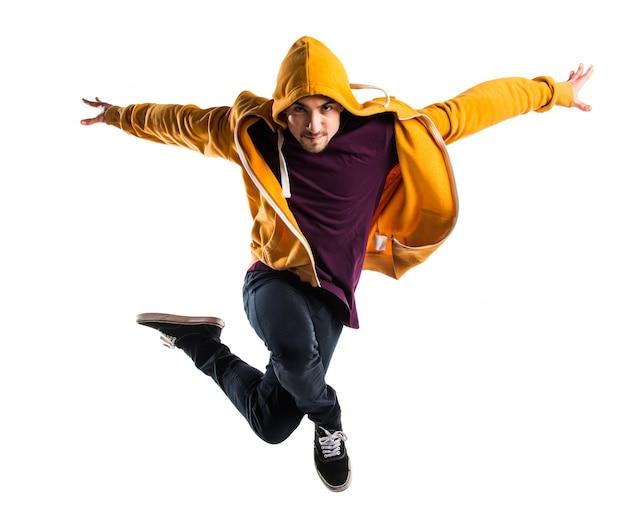 Man dancing street dance Premium Photo
