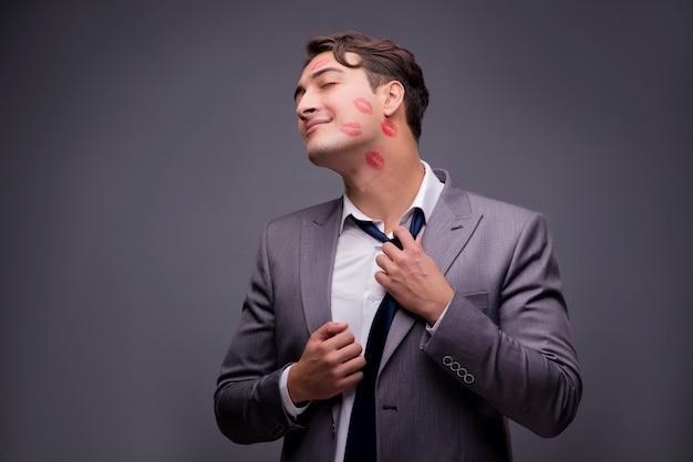 Man in funny romantic concept Premium Photo