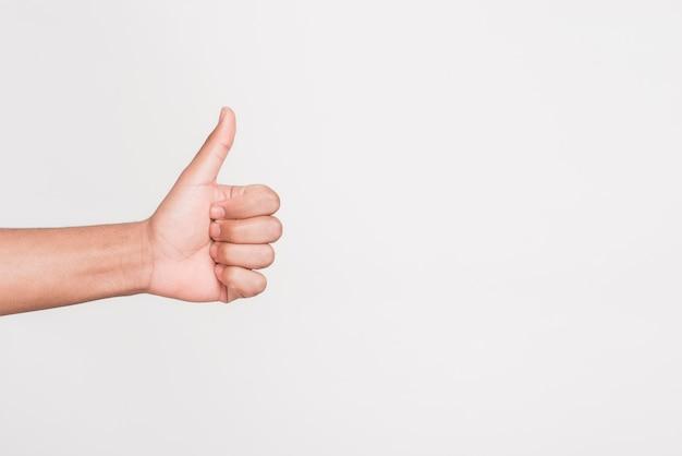 Человек жестом, как символ Premium Фотографии