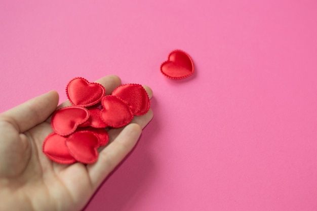 Man give heart to woman  copy space  valentine's day  little