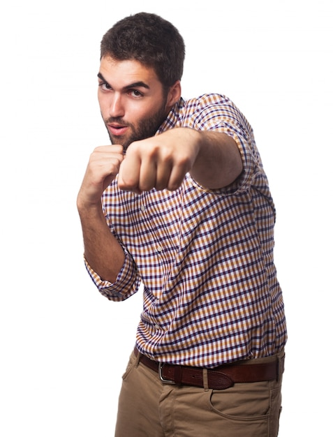 Man giving a punch Free Photo