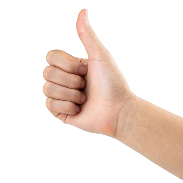 Man hand like, isolated Premium Photo